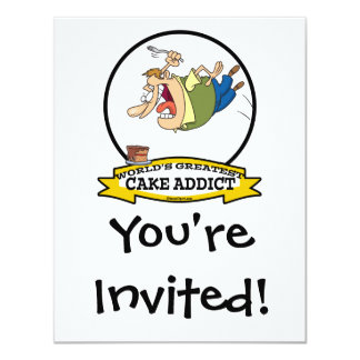 WORLDS GREATEST CAKE ADDICT CARTOON CARD