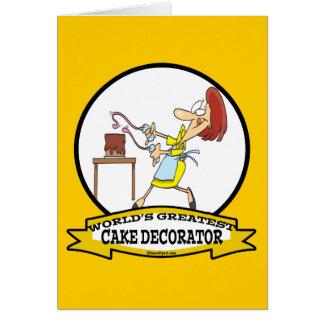 WORLDS GREATEST CAKE DECORATOR WOMEN CARTOON GREETING CARD