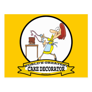 WORLDS GREATEST CAKE DECORATOR WOMEN CARTOON POSTCARD