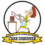 WORLDS GREATEST CAKE DESIGNER WOMEN CARTOON PHOTO CUTOUTS