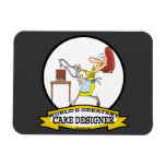 WORLDS GREATEST CAKE DESIGNER WOMEN CARTOON MAGNETS