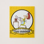 WORLDS GREATEST CAKE DESIGNER WOMEN CARTOON JIGSAW PUZZLE