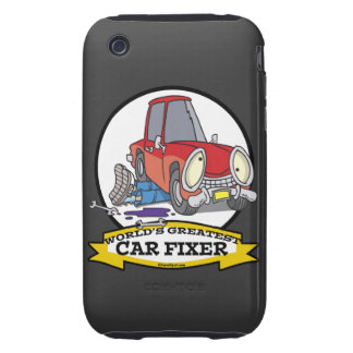 WORLDS GREATEST CAR FIXER CARTOON iPhone 3 TOUGH COVER