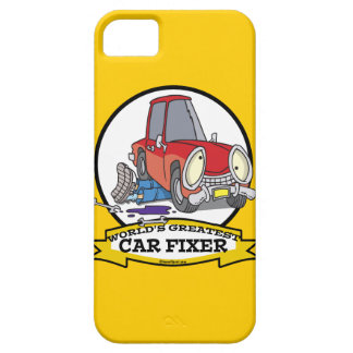 WORLDS GREATEST CAR FIXER CARTOON iPhone 5 CASE