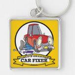 WORLDS GREATEST CAR FIXER CARTOON KEY CHAINS