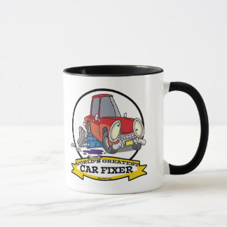 WORLDS GREATEST CAR FIXER CARTOON MUG