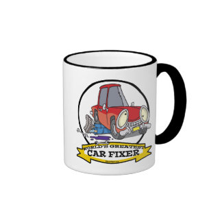 WORLDS GREATEST CAR FIXER CARTOON COFFEE MUGS
