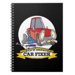 WORLDS GREATEST CAR FIXER CARTOON NOTEBOOKS