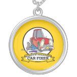 WORLDS GREATEST CAR FIXER CARTOON PENDANTS