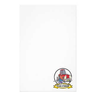WORLDS GREATEST CAR FIXER CARTOON PERSONALIZED STATIONERY