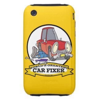 WORLDS GREATEST CAR FIXER CARTOON TOUGH iPhone 3 CASES