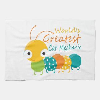 World's Greatest Car Mechanic Hand Towel