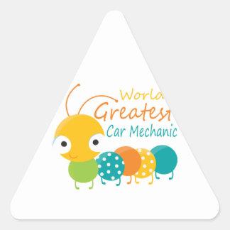 World's Greatest Car Mechanic Triangle Sticker