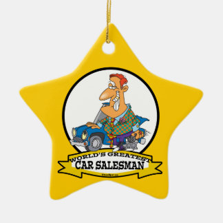 WORLDS GREATEST CAR SALESMAN II CARTOON ORNAMENTS