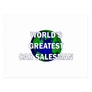 World's Greatest Car Salesman Postcard