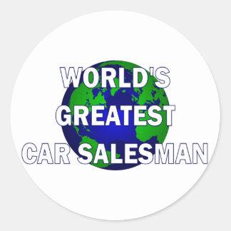 World's Greatest Car Salesman Round Sticker