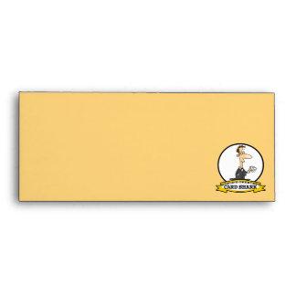 WORLDS GREATEST CARD SHARK MEN CARTOON ENVELOPE