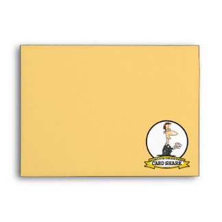 WORLDS GREATEST CARD SHARK MEN CARTOON ENVELOPES