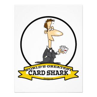 WORLDS GREATEST CARD SHARK MEN CARTOON CUSTOM ANNOUNCEMENT