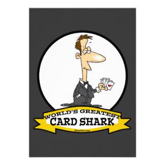 WORLDS GREATEST CARD SHARK MEN CARTOON ANNOUNCEMENT