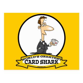 WORLDS GREATEST CARD SHARK MEN CARTOON POSTCARDS