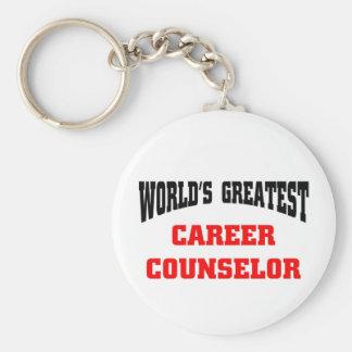 World's greatest career counselor keychain
