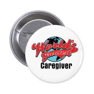 Worlds Greatest Caregiver 2 Inch Round Button
