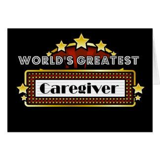 World's Greatest Caregiver Card