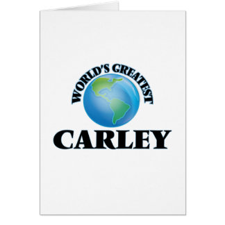 World's Greatest Carley Cards