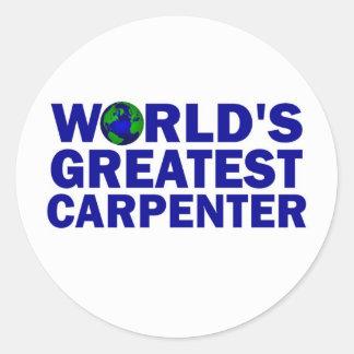 World's Greatest Carpenter Classic Round Sticker