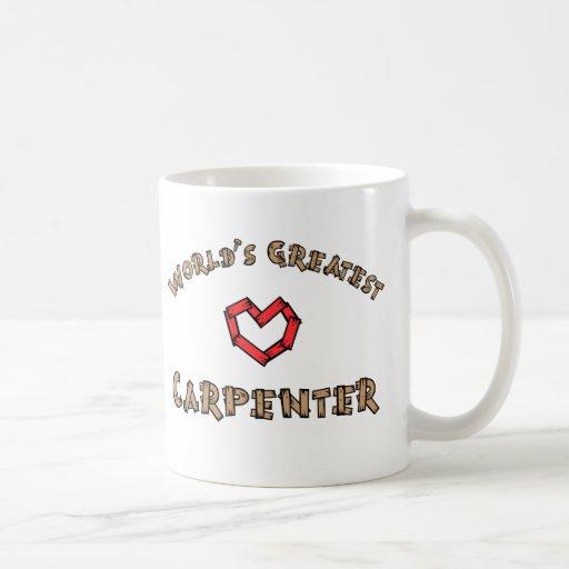 Worlds greatest carpenter coffee mugs