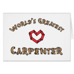 Worlds greatest carpenter greeting cards