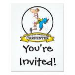 WORLDS GREATEST CARPENTER II MEN CARTOON 4.25X5.5 PAPER INVITATION CARD