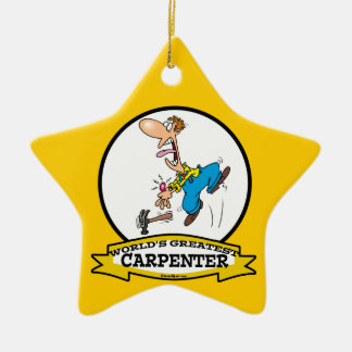 WORLDS GREATEST CARPENTER II MEN CARTOON CERAMIC ORNAMENT
