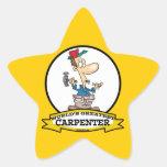 WORLDS GREATEST CARPENTER MEN CARTOON STICKERS