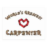 Worlds greatest carpenter postcard