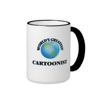 World's Greatest Cartoonist Ringer Coffee Mug
