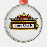 World's Greatest Case Clerk Christmas Tree Ornaments