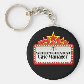 World's Greatest Case Manager Keychain