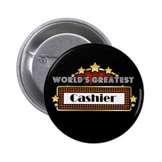 World's Greatest Cashier Button