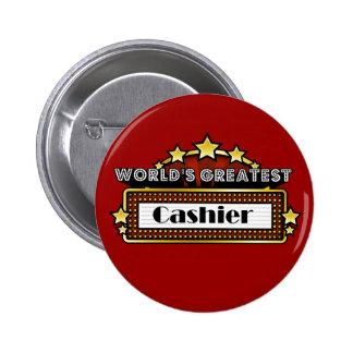 World's Greatest Cashier Pinback Buttons