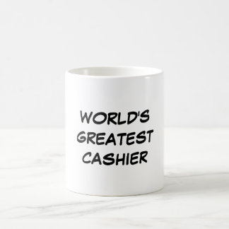 """World's Greatest Cashier"" Mug"