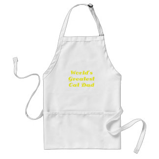 Worlds Greatest Cat Dad Adult Apron