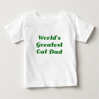 Worlds Greatest Cat Dad Baby T-Shirt