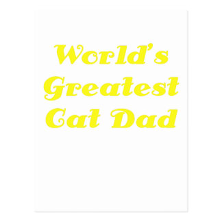 Worlds Greatest Cat Dad Postcard