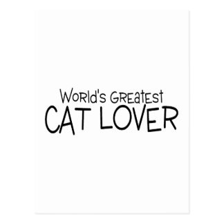 Worlds Greatest Cat Lover Postcard