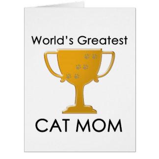 World's Greatest Cat Mom Card