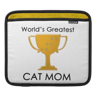 World's Greatest Cat Mom iPad Sleeves