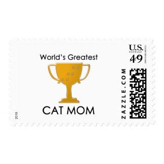 World's Greatest Cat Mom Stamp