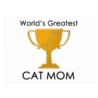 World's Greatest Cat Mom Postcard